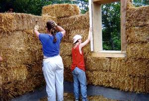straw bale work at DR